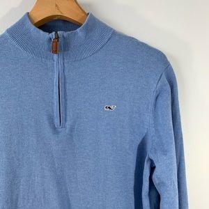VINEYARD VINES . Long Sleeve 3/4 Zip Sweater . L